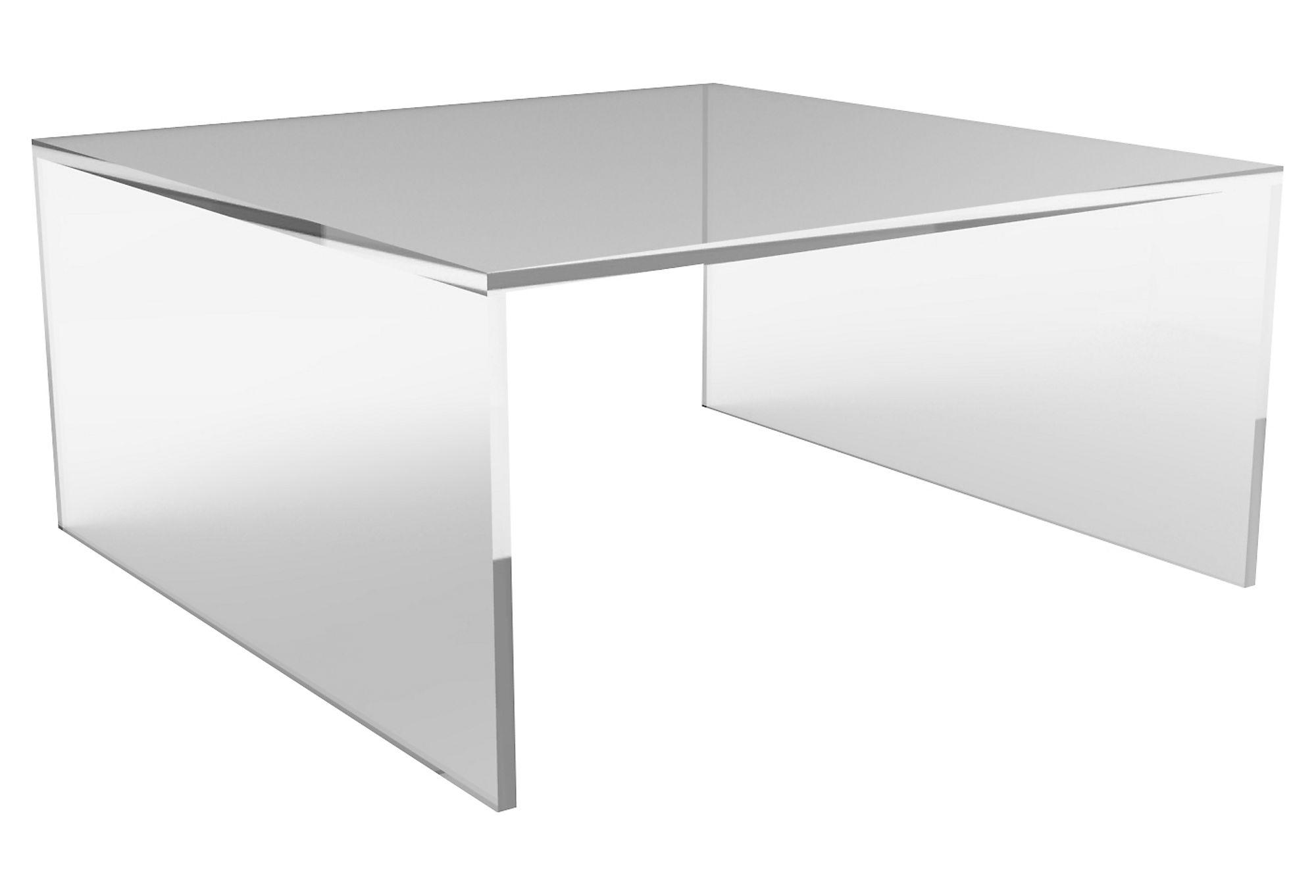Brickell square coffee table acrylic from one kings lane for Used acrylic coffee table