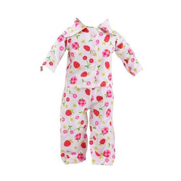 Cherry Strawberry Print Pajamas Clothes for 18inch American Girl Our Generation Journey My Life Dolls