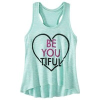 Juniors Be You Graphic Sweater Tank - Acacia Leaf