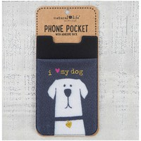 Natural Life Phone Pocket - I Love My Doge