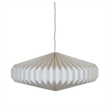 Pre-owned New Paper Accordion Pendant Lamp
