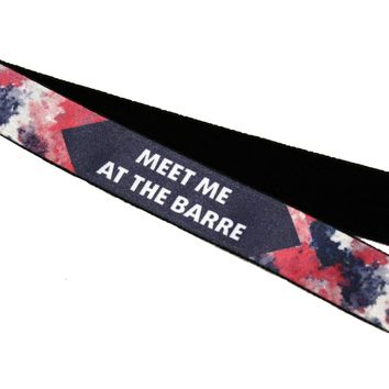 Meet Me at the Barre Watercolor Headband