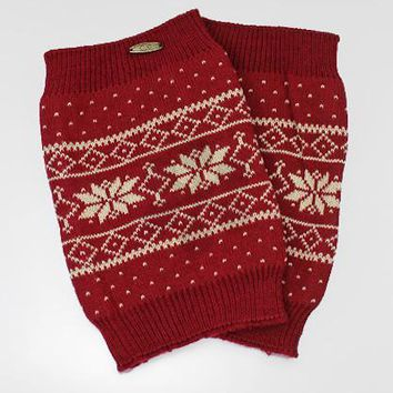 Snowflake Pattern Acyrlic Knit Boot Cuffs