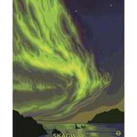 Northern Lights and Orcas, Skagway, Alaska Prints at AllPosters.com