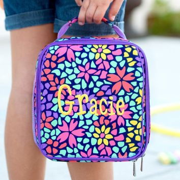 Petal Punch Monogrammed Lunch Box