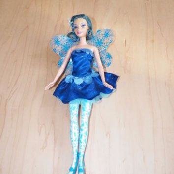 Barbie Fairytopia Azura Doll Mattel 2004 Blue Hair Painted Legs Used