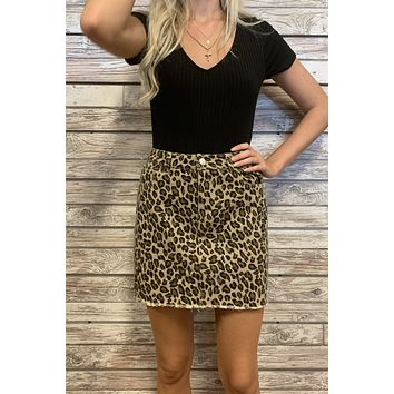 Girls Night Out Skirt- Taupe
