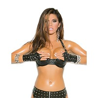 Studded Leather Bra