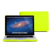 "GMYLE Neon Yellow Frosted Matte Rubber Coated Rubberized See Thru Hard Snap On Case for Apple 13.3"" inch Macbook Pro (not fit for 13 Macbook Pro with Retina display)"