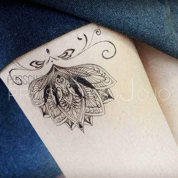 ink pattern skin drawing paper arm tattoo wedding skin painting supply Mandala Ethnic Art, Mandala Art Buddhism Geometric Temporary Tattoo