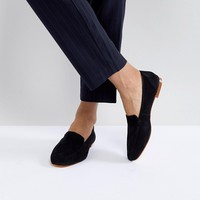 Office Flora Black Soft Leather Loafers at asos.com
