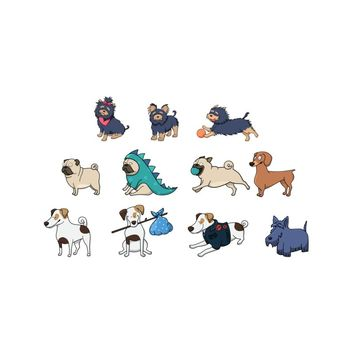 Pugdogs pattern | ponsao27's Artist Shop