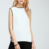 Contrast-Paneled Top