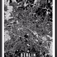 Berlin Germany Map with Coordinates