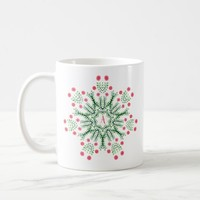 Spring Flowers Ink Drawn Mandala Monogram Coffee Mug