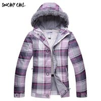 Snow winter Ski Jacket women clearance SALE womens skiwear ladies snowboard jackets skiing clothes H80