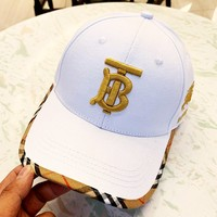 Burberry 2019 new edging embroidery couple baseball cap cap #2