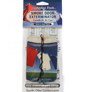 Smoke Odor Exterminator Car Hanger Clothesline Fresh