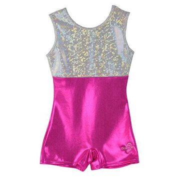 O3GL006 Obersee  Girl's Girls Gymnastics Biketard - Pink