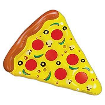 Giant Inflatable Pizza Slice Float Jumbo Swimming Pool Raft with Cup Holders Toy for Childrens and Adults