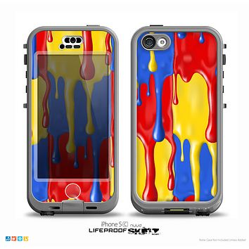 The Vector Paint Drips Skin for the iPhone 5c nüüd LifeProof Case