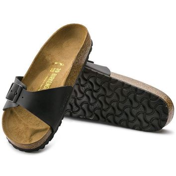Sale Birkenstock Madrid Birko Flor Black 0040791/0040793 Sandals
