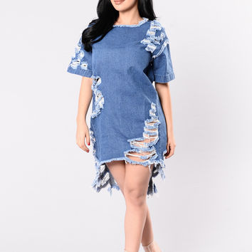 Good Jeans Dress - Medium Stone