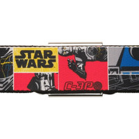 STAR WARS R2D2 C3PO PARTS SQUARES SEATBELT BELT