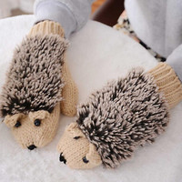 Hedgehog Gloves Knitted Gloves