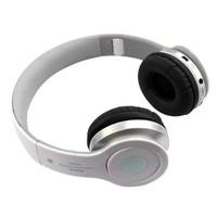 Top Seller Newest Foldable Wireless Bluetooth Stereo Headset Headphones Mic for Iphone Samsung HTC (White)