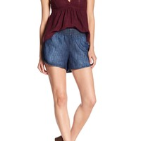 Melrose and Market | Smocked Waist Denim Dolphin Shorts (Regular & Petite) | Nordstrom Rack