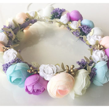 Baby Flower Crown Boho Flower Crown Wedding Crown Flower Girl Crown Birthday Crown Custom Design Children & Adult Flower Crown