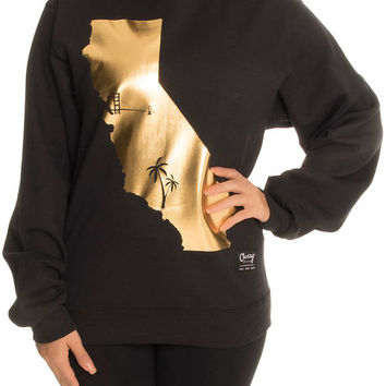 The Golden State Bay To L.A. Sweatshirt in Black