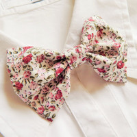 Liberty Flower Print Bow Tie Brooch - Spring Bow Tie Pin - Female Fashion Accessory - Bow Pin Brooch - Pin on Bow Tie - Wedding Bow Pin