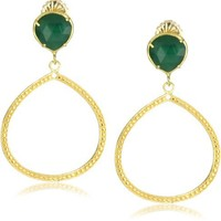 """Coralia Leets Jewelry Design """"Riviera Collection"""" 12mm Single Frame Earrings"""