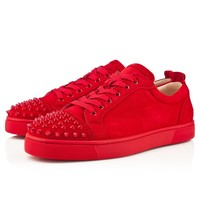 LOUIS JUNIOR SPIKES FLAT SUEDE, Suede, Red/Red, Men Shoes