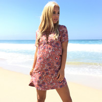 Blooming On The Beach Shift Dress
