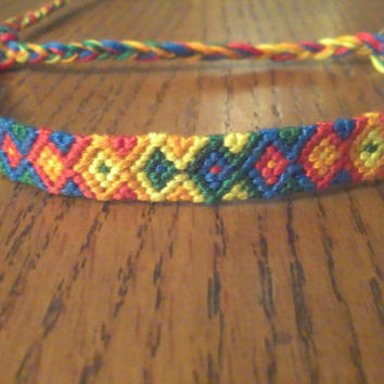 Handmade Rainbow Arrowhead Friendship Bracelet
