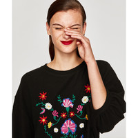 EMBROIDERED SOFT TOUCH SWEATER