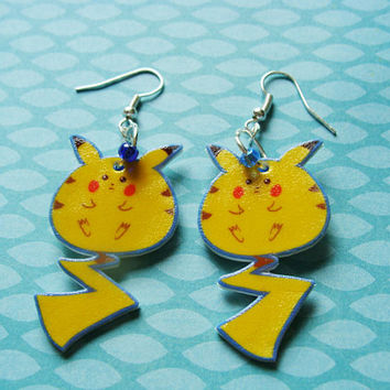 Chubby Pikachu Hook Earrings