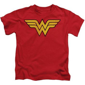 DCCKM83 Wonder Woman Logo Dist Short Sleeve Juvenile 18/1