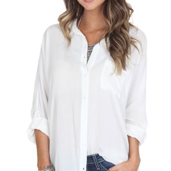 Boyfriend Button Down White