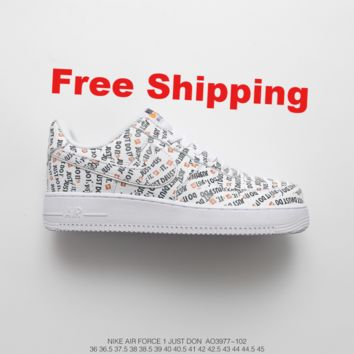 "[ Free  Shipping ]Nike Air Force 1 AF1 ""Just do it"" Running Sneaker"