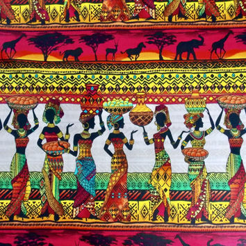 Tribal Fabric African Fabric Animal Fabric Cotton Fabric Quilt Fabric Quilt Backing Pillow Fabric Tablecloth Fabric Table Runner Fabric