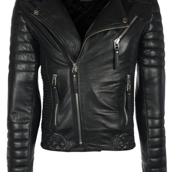 Kay Michaels Quilted Biker (Oil Black) – Leather Jackets, Mens, Womens Biker & Military Leather Jackets