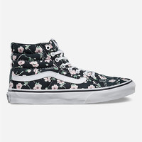 Vans Vintage Floral Sk8-Hi Slim Womens Shoes Blue Graphite  In Sizes