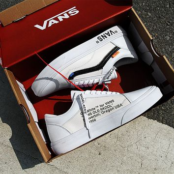 OFF-WHITE x Vans OLD Skool Leather Sneaker