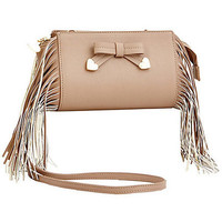 Betsey Johnson Fringe Part Crossbody