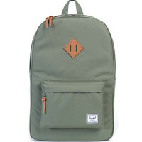 HERSCHEL SUPPLY CO HERITAGE BACKPACK DEEP LICHEN GREEN/TAN