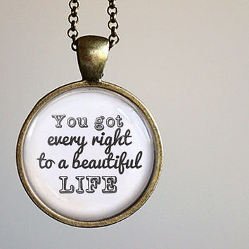 SELENA GOMEZ Inspired Lyrical Quote Pendant Necklace